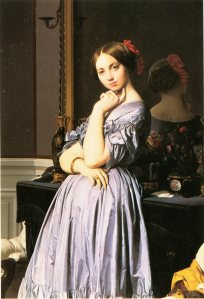 INGRES, La Vicomtesse d'Haussonville, huile sur toile, New York, The Frick Collection.