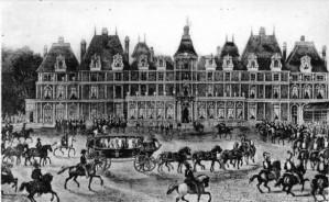 Arrivée de la reine Victoria au château d'Eu le 2 septembre 1843