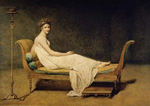 Jacques-Louis DAVID (1748–1825), Portrait de Madame Juliette Récamier. Huile sur toile, vers 1800. Musée du Louvre.