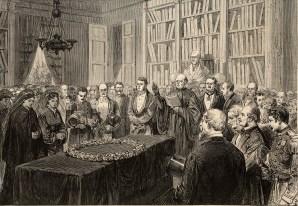 Les obsèques de François Guizot. Le Monde Illustré du 26 septembre 1874.