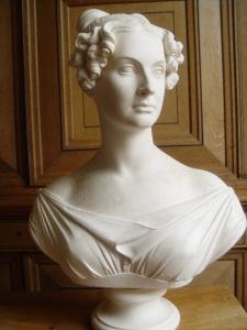 Thomas CAMPBELL. Buste de Dorothée de Lieven. Sculpture en plâtre. Collection particulière. Cliché François Louchet.
