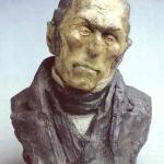 Francois Pierre Guillaume Guizot, ministre de l'intérieur (1790-1874). Buste par Honoré Daumier.