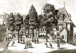 Anonyme. Collège Calvin vers 1810 © Centre d'Iconographie genevoise. Bibliothèque publique et universitaire, Genève.