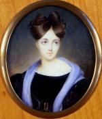 Miniature de Eliza Dillon-Guizot. Collection particulière. Cliché François Louchet.