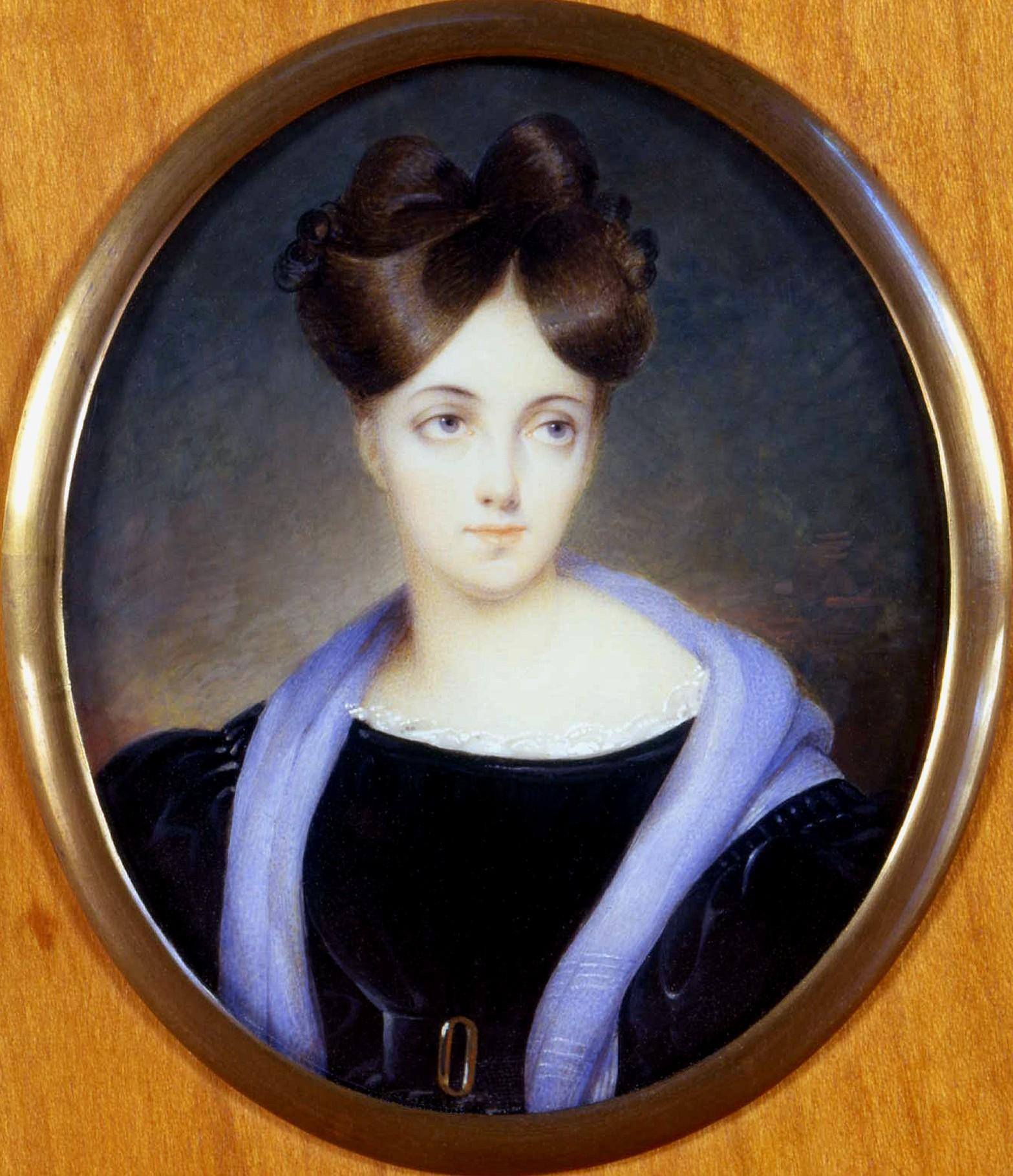 Miniature de Eliza Dillon-Guizot. Collection particulière de François Louchet.