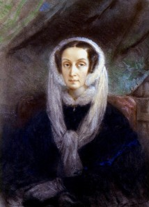 Mme Gabriel DELESSERT, née Valentine de LABORDE (1806-1894), Portrait de Dorothée de Lieven. Pastel, milieu du 19e. Collection particulière. Cliché François Louchet.