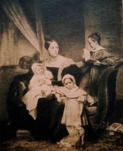 Auguste COUDER (1790-1873), Portrait d'Eliza Dillon-Guizot avec ses trois enfants, Henriette, Pauline et Guillaume. Pastel, après 1833. Collection particulière. Cliché François Louchet