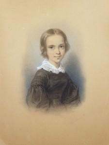 Clotilde JUILLERAT née GERARD (1806-1904), Portrait de Pauline Guizot, Dessin, 1840. Collection particulière. Cliché François Louchet.