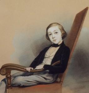 Clotilde JUILLERAT née GERARD (1806-1904), Portrait de Guillaume Guizot, Dessin, 1843. Collection particulière. Cliché François Louchet.