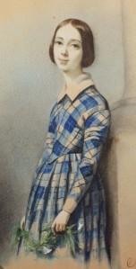 Clotilde JUILLERAT née GERARD (1806-1904), Portrait de Henriette Guizot, Dessin, 1843. Collection particulière. Cliché François Louchet.