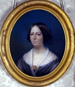 Adélaïde-Rosalie comtesse Mollien (1784-1878), Portrait d'Henriette Guizot-de Witt, Pastel, 1858. Collection particulière. Photo François Louchet.