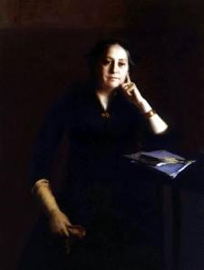 Claire HILDEBRANDT, Portrait de Henriette Guizot-de Witt, huile sur toile, 1889, Collection particulière. Photo François Louchet.
