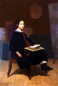 Maurice de VAINES (1815-1869), Portrait de Henriette Guizot jeune. Huile sur toile, 1840. Collection particulière. Cliché François Louchet.