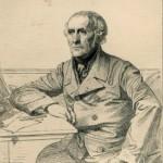 D'après Paul BAUDRY (1828-1886), Léopold FLAMENG, Portrait de François Guizot. Gravure extraite de la Gazette des Beaux-Arts. XIXème fin. Coll. privée. Cliché François Louchet.
