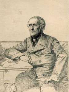 D'après Paul BAUDRY (1828-1886), Léopold FLAMENG, Portrait de François Guizot. Gravure. Collection particulière. Cliché François Louchet.