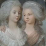 Anonyme. Portrait de Pauline et Henriette de Meulan. Pastel, fin 18e. Collection particulière. Cliché François Louchet.