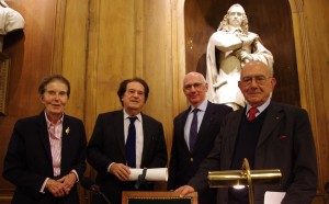 Catherine Coste, Jacques Julliard, Michel Zink et Jean-Claude Casanova.