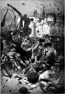 Alphonse de NEUVILLE - The Death of Simon de Montfort at the siege of Toulouse - 25 June 1218.