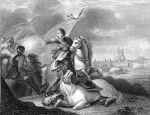 Cromwell à la bataille de Worcester.