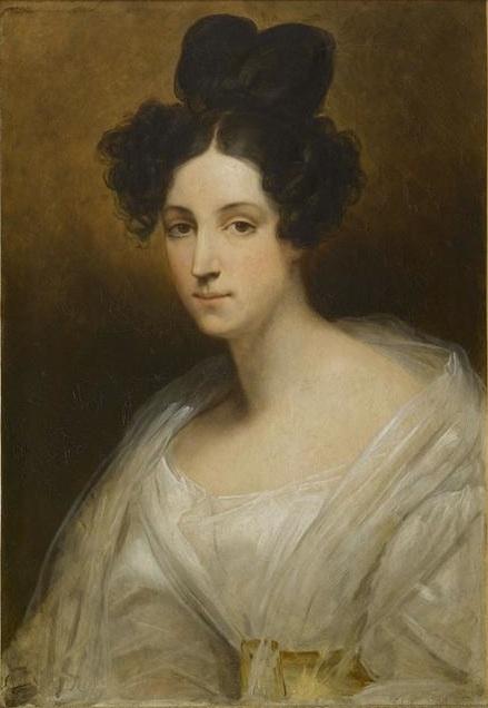 Ary SCHEFFER (1795-1858), Portrait de Césarine d'Houdetot, baronne de Barante. Huile sur toile, 2e quart 19e siècle. Collection musée national des châteaux de Versailles et de Trianon.