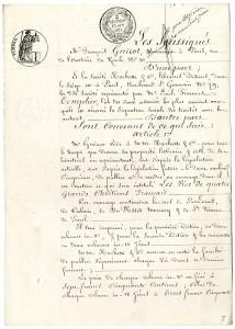 Contrat entre Guizot et Hachette