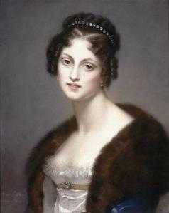 Catherine Caroline COGNIET née THEVENIN (1813-1892) d'après Pierre Paul PRUD'HON (1758-1823), Portrait de la Duchesse de Dino et de Sagan. Huile sur toile, 19e siècle. Versailles ; musée national des châteaux de Versailles et de Trianon.