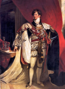 Thomas LAWRENCE (1769-1830), Coronation portrait of George IV, 1821, oil on canvas, Royal Collection.