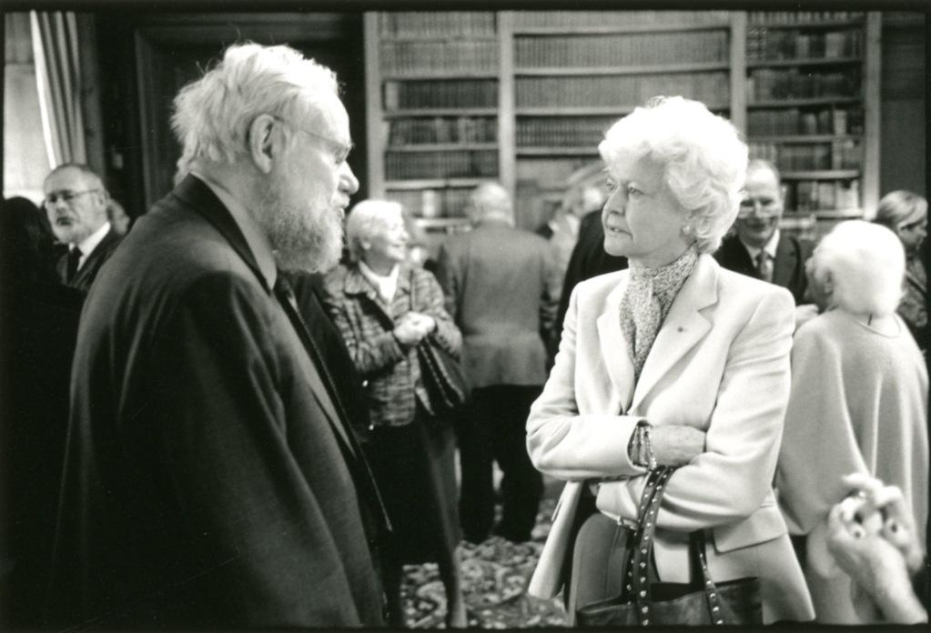 Jean Lebel et Anne d'Ornano. Prix Guizot du Conseil général du Calvados 2008. Photo François Louchet.