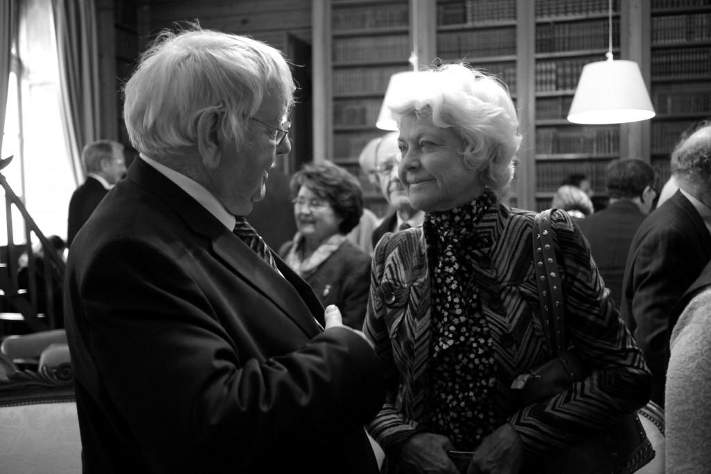 Mme D'Ornano, ex-présidente du Conseil général du Calvados et André Ledran, maire de Ouistreham. © François Louchet
