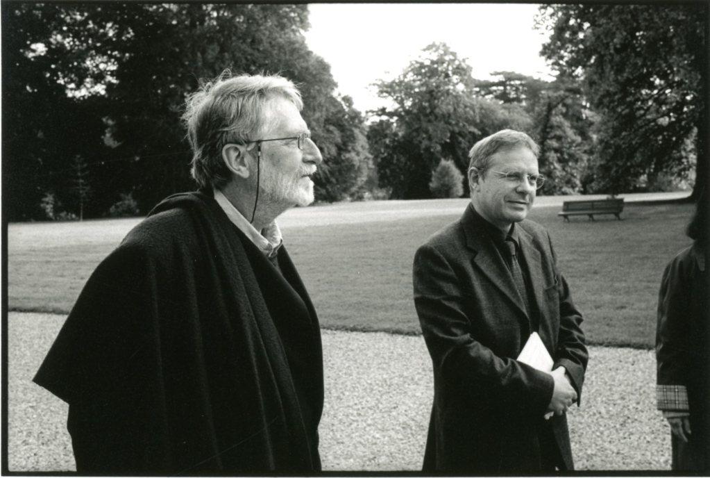 Simon Leys et Dominique Pain. Prix Guizot-Calvados 2004. Photo François Louchet.