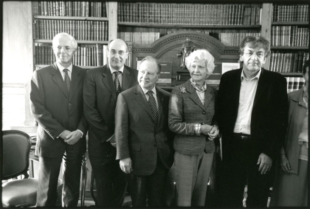 Nicolas Boissonnas, Jean-Léonce Dupont, Gabriel de Broglie, Anne d'Ornano, Alain Finkielkraut. Prix Guizot-Calvados 2006.