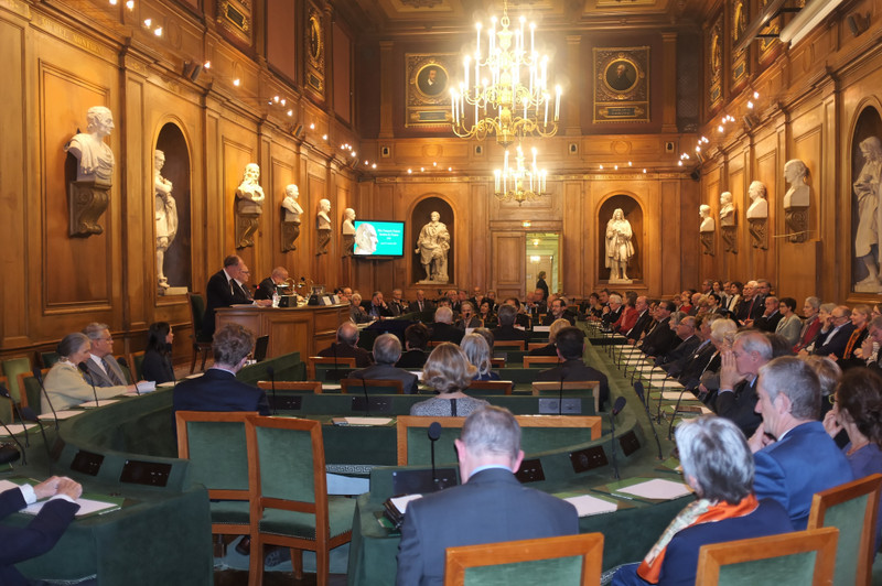 Assemblée réunie pour le second Prix Guizot de l'Institut