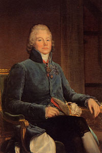 François Baron GERARD (1770-1837), Portrait de CHARLES-MAURICE, DUC DE TALLEYRAND-PERIGORD, PRINCE DE BENEVENT (1754-1838). Huile sur toile, 1er quart 19e siècle. Versailles ; musée national des châteaux de Versailles et de Trianon.