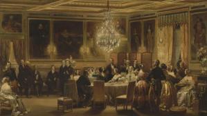 Eugène LAMI (1800-1890). Réception en l'honneur de la reine Victoria. Huile sur toile, 1845. © RMN / Gérard Blot