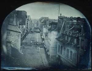 Barricades rue Saint-Maur. Avant l'attaque, 25 juin 1848. Après l'attaque, 26 juin 1848. © Photo RMN-Grand Palais - H. Lewandowski