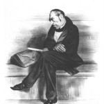 Honoré DAUMIER (1808-1879). Lithographie de François Guizot en pied, 1833. Publiée dans La Caricature, le 13 décembre 1833. BnF, Estampes et Photographies.