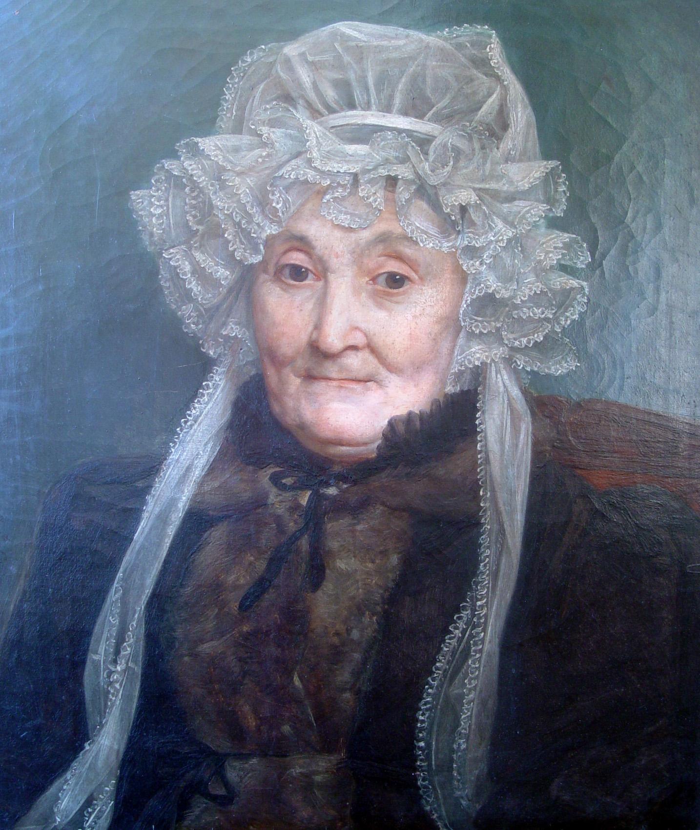 Auguste COUDER (1790-1873). Portrait de Mme Guizot mère, née Sophie Bonicel. Huile sur toile, 1833. Collection particulière. Cliché Jean Bergeret.