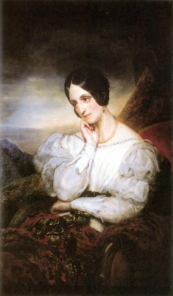 Ary SCHEFFER (1795-1858), portrait de la duchesse de Dino, Huile sur toile, collection privée.