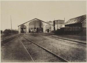 Baldus Edouard (1813-1889) Vue de la gare de Creil, photographie, 19e  © RMN-Grand Palais (domaine de Compiègne)