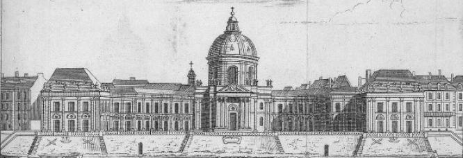 Le palais de l'Institut, siège des 5 académies.