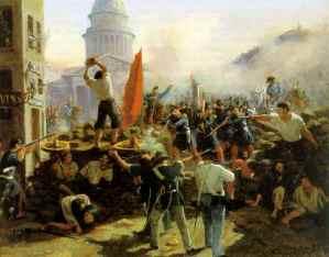 Barricades rue Soufflot, peinture de Horace Vernet.